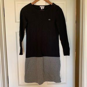 Lacoste Colorblock Sweatshirt Dress